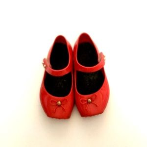 Red Mary Jane Ballet Flat Shoes Mini Melissa